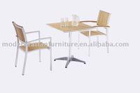 Plastic wood outdoor dining set