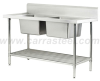 Stainless Steel Bench Top with double bowls