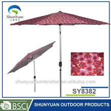 3M Aluminum Printed market Patio Garden Umbrella parasol wholesale dealer