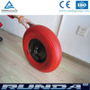 high quality steel center rim pu foam wheel 400-8