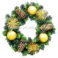 Artificiales de pvc corona de navidad/del árbol de navidad #cw24d- 4
