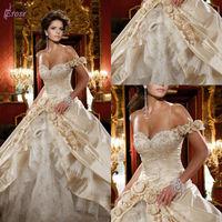 Daniel Degli Onofri Luxury One Shoulder Satin And Organza Arabic Wedding Dress 2014