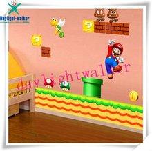 1139 DIY super mario NEW wall decor !! waterproof kids sticker