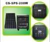 solar home system 200w/18v for flexible using