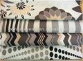 De colores de impresión sofá y cojín flocado tela de tapicería
