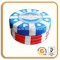 Custom Gambling Chips Tin Cans/Lip Balm Tin Containers
