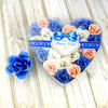 STC heart shape box with rose paper soap flower
