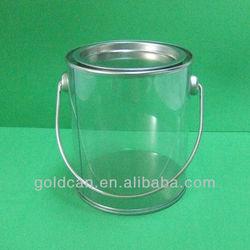 clear pvc can tin ,transparent pvc bucket, pvc bucket