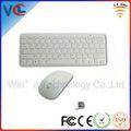 Heißer verkauf vwt-01 2.4g wireless weiße farbe computer-tastatur und maus