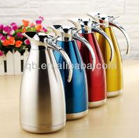 colorful stainless steel vacuum hot water jug