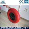 high quality steel center rim pu foam wheel 400-8