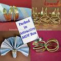 Exotic Handmade Brass Palm Leaf Napkin Rings - Exclusive Custom made Tableware