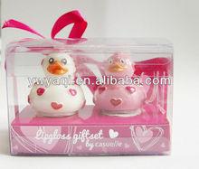 duck shape kid cute lip gloss gift set