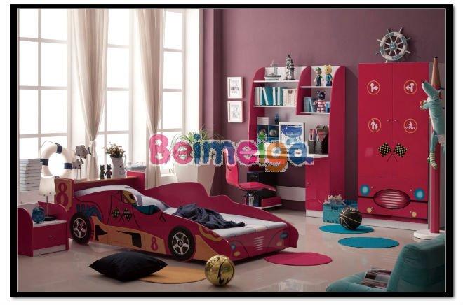 Ensemble de chambre des enfants rouge couleur enfants for Ensemble chambre garcon