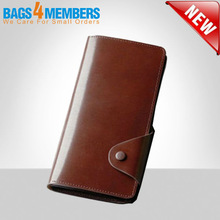 Hot sale! 2015 Genuine leather fashion designer Men wallets/brown long vintage wallet