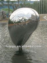 art stainless steel abstract sculpture bronze fountain metal sculpture