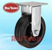 Heavy duty solid rubber caster wheels