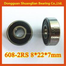 miniature deep groove ball bearings 608 608-2RS 8*22*7mm distributor needed