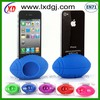silicone speaker with silicone case for iphone/silicone phone holder