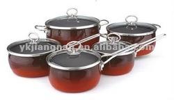 10PCS porcelain enamel nonstick cookware set