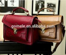 2015 latest design famous brand ladies satchel leather messenger bag vintage student weekend leisure genuine shoulder bag