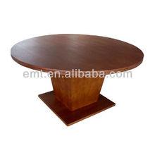 Round Shape Hotel Tables Wooden Top Design(EMT-DT608&EMT-AP018-802)
