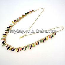 Fashion mix color rectangle fringe necklace alibaba in russian, alibaba in russian fashion jewelry