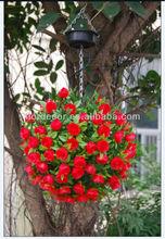 Solar Hanging Flower Ball Light, Hanging Lighted Flower Garden Decoration SOL8247
