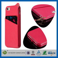 C&T 2014 Luxury design TPU hot selling wallet case for iphone 5