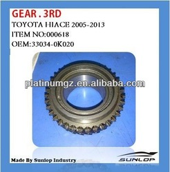 toyota hiace parts GEAR.3RD 33034-0K020 for hiace van,commuter,KDH200 #000618