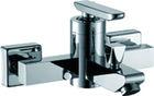 Wall mounted chrome single handle bathroom basin faucets