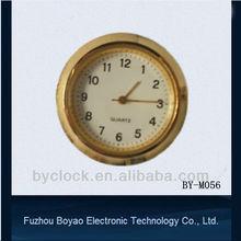 37mm gold mini metal insert clock mini clock