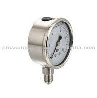 All stainless steel bourdon tube manometer