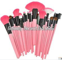 New 24 pcs Professional makeup brush set make up brush tools with case bag 3colors