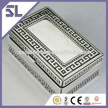 Custom Logo Printed Small Velvet Wedding Rectangular Metal With Pattern Jewelry Box Export
