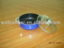heavy gauge aluminum casserole with glass lid
