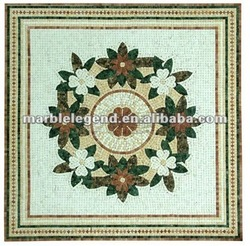 square mosaic pattern table top