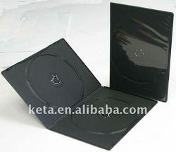 7MM Slim Double Black Cover Plastic DVD Case