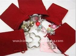 microfibre velvet bracelet jewelry holder/ring holder,velvet jewelry pouch
