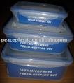 Hermétique contenant, Récipient de nourriture en plastique, 3 pcs récipient en plastique