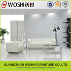 Crystal Style reception room white leather sofa