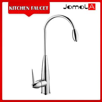 Single handle brass long neck kitchen faucet