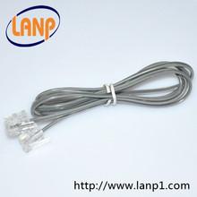 Cat3 Rj11 6P4C Telephone Cable