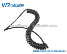 High elasticity 4 cores motor spring cable