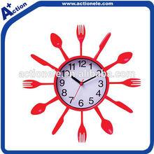 Fork & Knife & Spoon Plastic Decorative Wall Clock