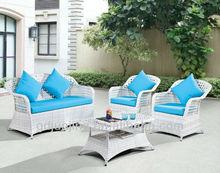White rattan outdoor furniture JJSFR-78