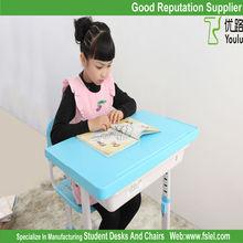 ergonomic adjustable kids plastic desk and chair set for children