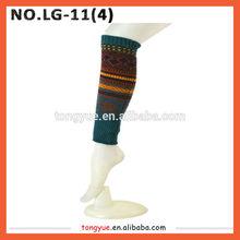 de lana y damas de acrílico del telar jacquar invierno calentadoresdelapierna de cangrejo de nieve las piernas