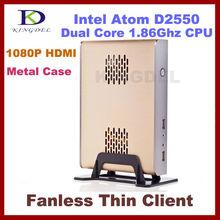 Brand New Thin Client Computer, Mini PC with Intel Atom D2550 1.86Ghz, 1GB RAM, 8GB SSD, 32 Bit, 720P HDMI