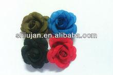 Handmade chiffon / fita / organza rosa flor de tecido para as mulheres se vestem / chapéu / calçados